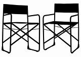 Camping chair silhouette