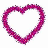 abstract vector pink color isolated heart
