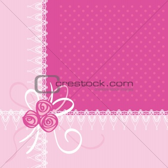 Greeting Card with Roses Illustration