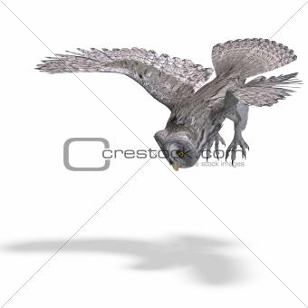 Grey Owl Bird