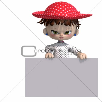 cute and funny cartoon doll with hat