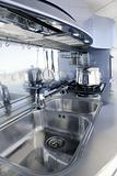 Blue silver kitchen modern architecture interior design