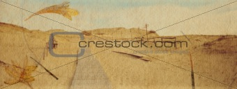 Grunge background of scenic sand dunes