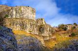 Stunning 300 million year old limestone canyon gorge