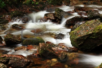 Stream running over rocks