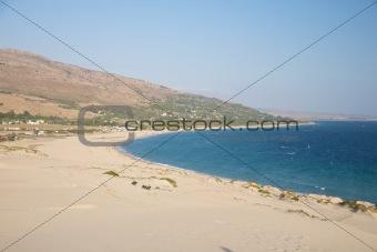 Valdevaqueros beach from top