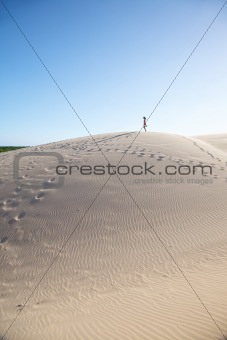 woman on great sand mountain