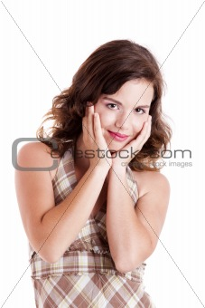 Beautiful girl smilling
