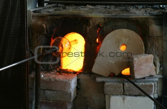 Blowing Glass and Furnace