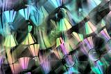 Bright abstract background. CD