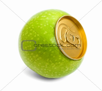 Green apple concept