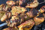 Shashlik from pork