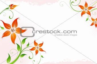 Grunge flowers
