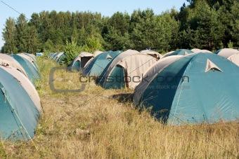 Camping. Many tents.