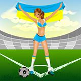 Ukrainian girl soccer fan