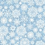 Seamless snow flakes vector pattern. EPS 8