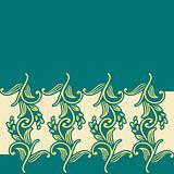 Classic nature pattern, greeting card