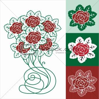 Spring floral element, Rose