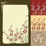 Seamless retro floral pattern. Parchment