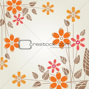 Modern background with flowers