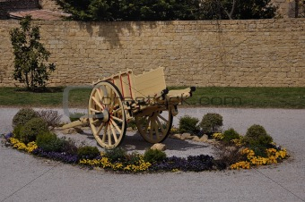 an ancient handcart