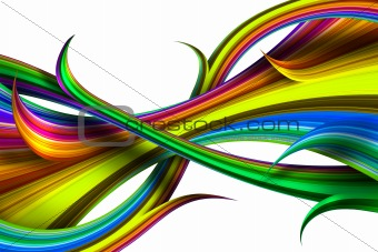 Abstract colourful iridescent figures