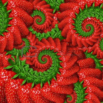 background of ripe strawberry