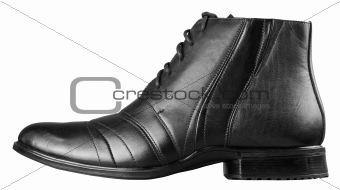 Black man's shoe
