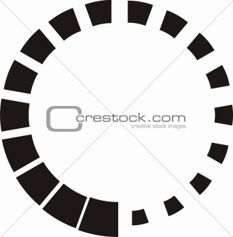 Abstract circular black design