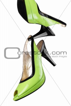 Green women shoes