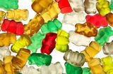 Gummi-bears on white background_2