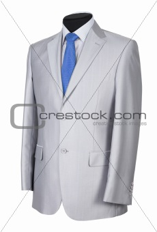 Man's suit on white