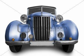 Old blue car