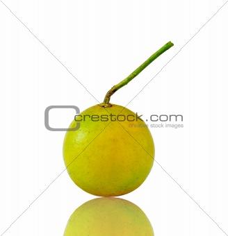 green peel orange and reflection