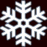 white snowflake on black
