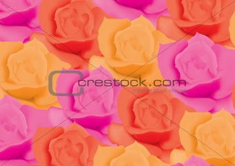 background with colorful roses
