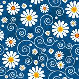 Dark blue floral pattern