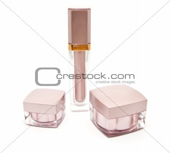 Three beautiful jars of cream