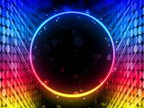 Disco Abstract Circle Box on Black Background