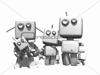 Metal Robot family