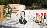 Political mural in Cuba