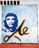 El Che portrait on a wall