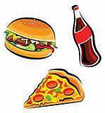 Vector fast food