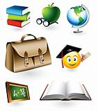 Educational vector items
