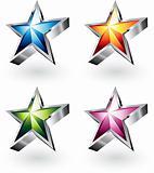 Vector star with chrome borders