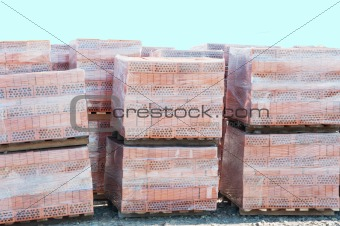 Bricks On Pallets