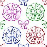 Bows, seamless pattern