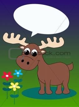 a cute moose