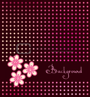 abstract dark background with red stylized flower