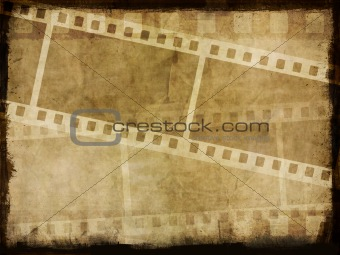 Grunge film strip background